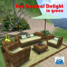 Garden Loveseat Second Life Marketplace Tan Tropical Delight In Green Living