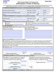 Power Of Attorney Form For Medical by Free Tax Power Of Attorney West Virginia Form U2013 Adobe Pdf