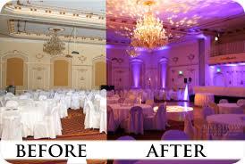 uplighting wedding wedding lighting spokane before and after wedding lighting