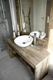 wood bathroom ideas meuble salle de bain bois 35 photos de style rustique sous sol