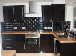 black subway tile kitchen backsplash black themed subway tiles backsplash outofhome