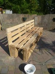 Wood Lawn Bench Plans by Recycled Pallet Garden Bench Plans Recycled Pallet Ideas