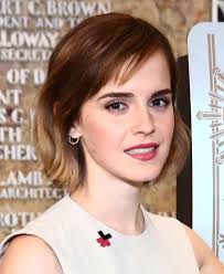 emma watson short cut with bangs short hairstyles lookbook