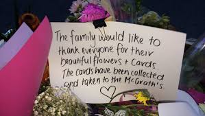 photos mcgrath family thanks those who have left flowers for