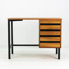 Small Vintage Writing Desk Small Vintage Desk In Walnut And Steel 1960s Design Market