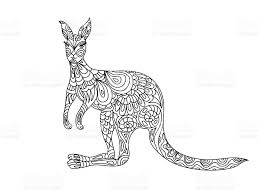 kangaroo coloring page stock vector art 493746878 istock