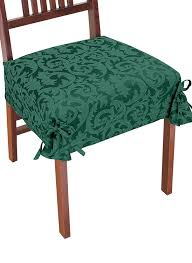 dining chair seat covers damask chair covers home kitchen
