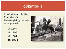 thanksgiving trivia ppt