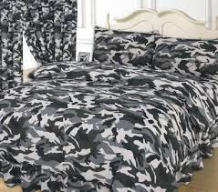 Camo Duvet Covers Changingbedrooms Com Double Size Army Miltary Black Grey