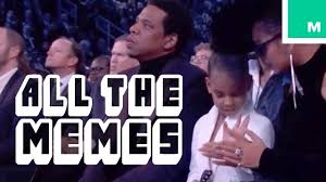 Grammy Memes - blue ivy s meme worthy grammy gesture all the memes youtube