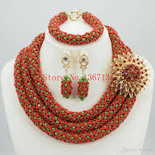 african beads necklace images 2018 fashion nigerian wedding african beads jewelry set crystal jpg
