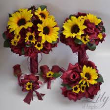 sunflower wedding bouquet 17 package wedding bridal bouquet silk flower sunflower