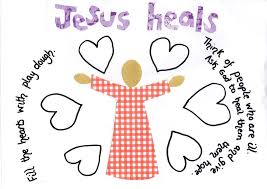 flame creative children u0027s ministry jesus the healer play dough mat