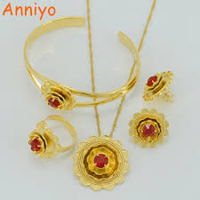 Trendy Gifts by Ethiopian Bridal Jewelry Sets Gold Plated U0026 Copper Africa Trendy