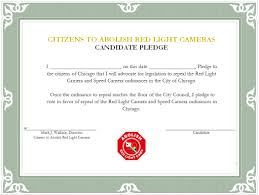 city of chicago red light cameras candidates pledge