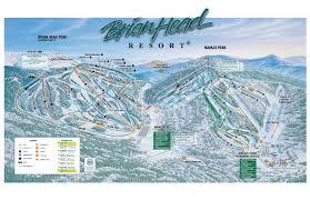 Ski Utah Map by Brian Head Resort Trail Map U2022 Piste Map U2022 Panoramic Mountain Map