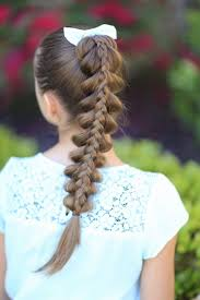 cute hairstyles pull through braid stacked pull through braid cute girls hairstyles kiddie