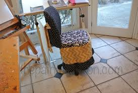 Office Chair Slipcover Pattern Creations Chair Dress Up The Painted Apron