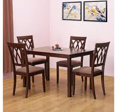 buy peak 4 seater dining set home by nilkamal cappucino online