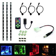 Led Light Strips For Computer Case by Rolightic Led Strip Lights Desktop Pc Computer Mid Tower Case Kit