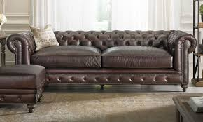 Chesterfield Sofa Price by Francis Drake Top Grain Leather Chesterfield Sofa The Dump