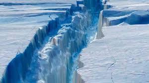 imagenes de la antartida enorme iceberg se desprende de barrera de hielo en la antártida