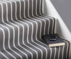 Silver Stair Rods by Interior Gray Scale Stair Runner Carpet Which Beautify With