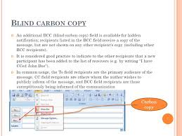 How Does Blind Carbon Copy Work By Chloe Ppt Download