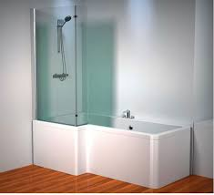 affordable l shaped shower screen with glass materials integrated