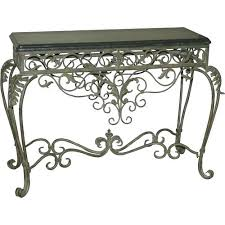Wrought Iron Console Table A Marble Top Wrought Iron Console Table 19th Century And
