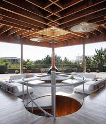 Outdoor Deck Furniture by Gyrofocus Patio Modern With Hanging Fireplace Gyrofocus Fireplace