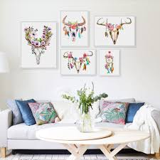 Wall Paintings For Living Room Skull Canvas Wall Art Reviews Online Shopping Skull Canvas Wall