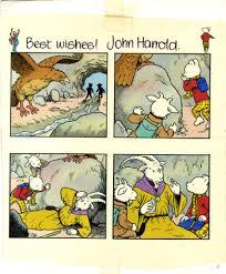 rupert bear original panel drawing artist john harrold