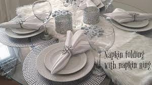 christmas napkin rings table linens napkin folding w napkin rings youtube