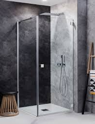 Shower Door 720mm Design Hinged Shower Door In Frameless Luxury Bathrooms Uk