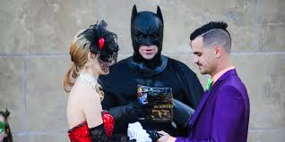 themed weddings this batman obsessed s comic book wedding packs a powerful