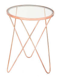 Glass Accent Table Iron And Glass Accent Table In Copper
