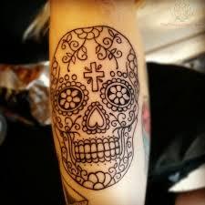 ornamentally made skull tattoo tattoomagz