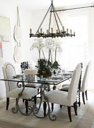 wrought iron dining room table glass top wrought iron dining table foter