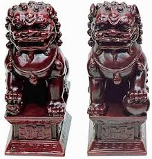gold foo dogs pair of foo dogs gold or green jade finish