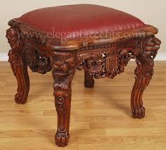 Mahogany Ottoman Mahogany Throne Ottoman Footstool Stool Brown Finish