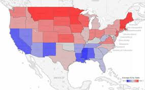 map usa bible belt maps reveal intelligence levels across the us based on tweets