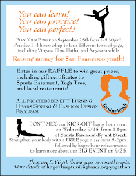 stretch your power a yoga thon to benefit young women in san