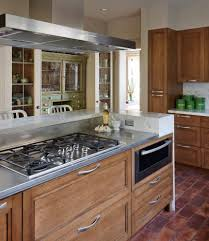 Mediterranean Kitchen Seattle Stainless Steel Prep Contemporary Seattle With Metal Bar Height Stools
