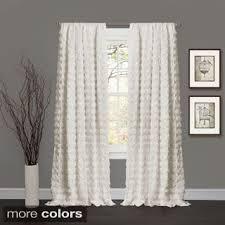curtain decor lush decor lake como ivory 84 inch curtain panel free shipping