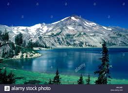Oregon lakes images M00082 tif green lakes three sisters wilderness area oregon stock jpg