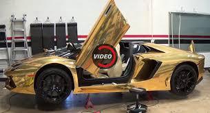 gold chrome lamborghini aventador here s how a lamborghini aventador roadster gets a shiny gold