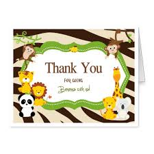 baby shower thank you cards folded safari monkey thank you notes