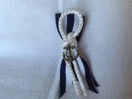 Nautical Themed Ribbon - nautical beach themed groom or groomsmen boutonniere
