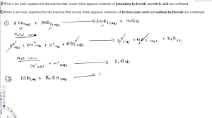 net ionic equation topics in general chemistry 1 youtube